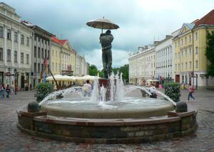 Walking through Tartu, the oldest city in Estonia